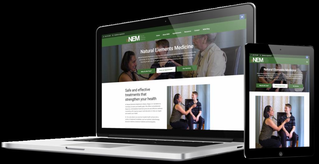 A recent web design example