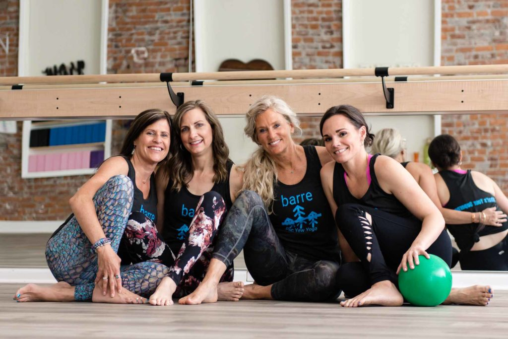 women from yoga studio sitting albany oregon