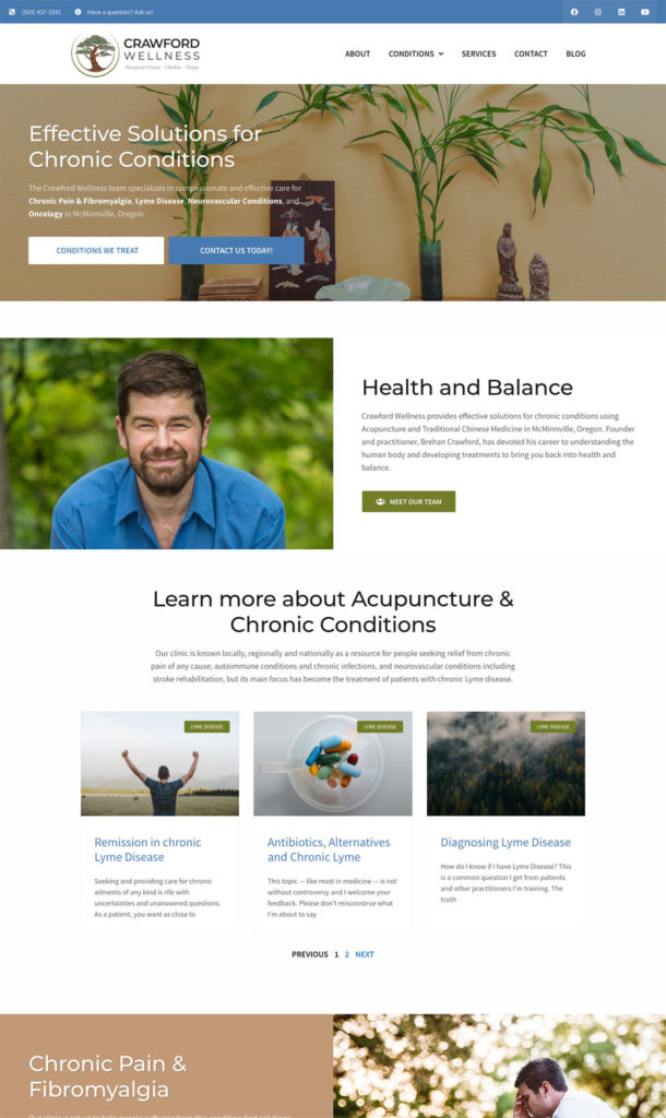 Crawford Wellness, treating chronic conditions in McMinnville, Oregon