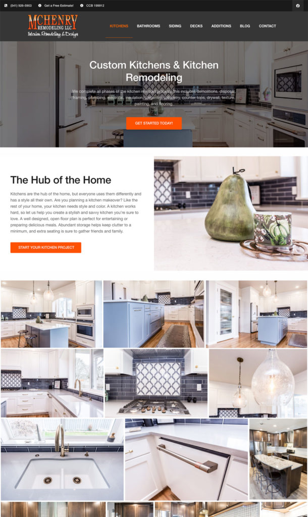 Clark Five Design redesigned the website of McHenry Remodeling