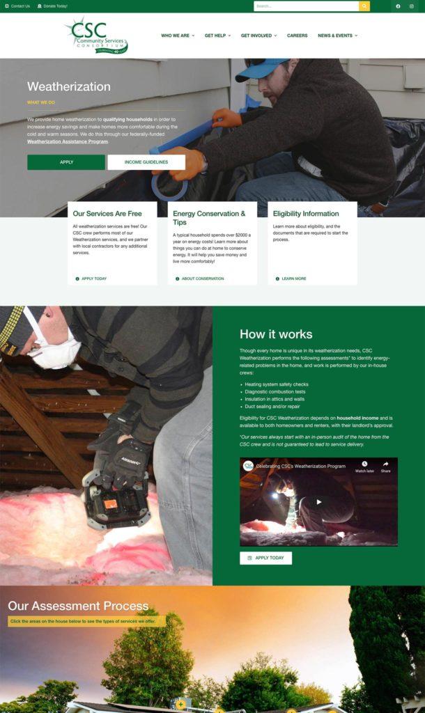 Clark Five Design redesigned the website of Community Services Consortium